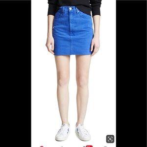 Rag and Bone Skirt mini jean/Denim skirt blue